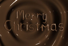 Chocolate manufacturer Merry Christmas Greeting. Chocolate Merry Christmas Greeting Background 3d illustration Royalty Free Stock Images