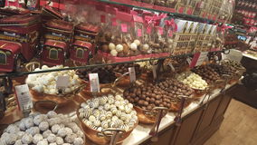 Chocolate market place. Chocholate marketplace in Brugge Stock Photos