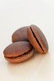 Chocolate marron cookies Royalty Free Stock Photo