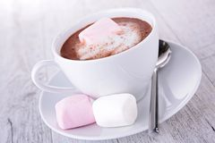 Chocolate and marshmallow Royalty Free Stock Photos
