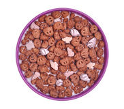 Chocolate and marshmallow cereal stock photo