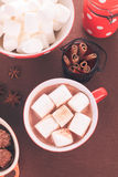 Chocolate with marshmallow Royalty Free Stock Photos