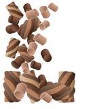 Chocolate marshmallows Royalty Free Stock Photo