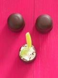 Chocolate marshmallows Stock Image