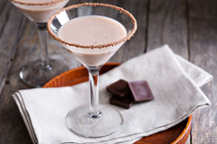 Chocolate martini coctail Royalty Free Stock Photography
