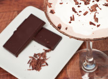 Chocolate martini Garnish Stock Photo