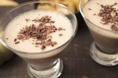 Chocolate Martini of Milk, Amaretto, Coffee and Hazelnut Liqueur Royalty Free Stock Image