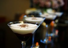 Chocolate martinis are the height of divine royalty free stock image