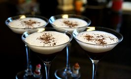 Chocolate martinis make every day a party stock photo