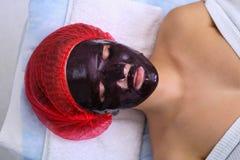 Chocolate Mask Facial Spa στοκ φωτογραφία με δικαίωμα ελεύθερης χρήσης