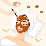 Chocolate Mask Treatment Stock Photos