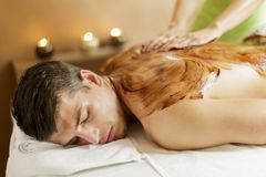 Chocolate massage Stock Photos