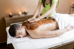 Chocolate massage Stock Photo