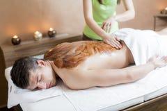 Chocolate massage Royalty Free Stock Photos