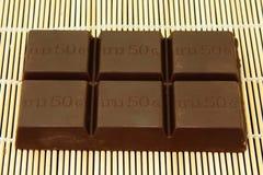 Chocolate on mat Stock Photo