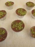Chocolate matcha pralines Royalty Free Stock Images