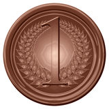 Chocolate medal Royalty Free Stock Image