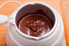 Chocolate Melting Pot Royalty Free Stock Photography