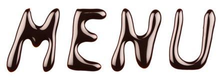 Chocolate menu Stock Image
