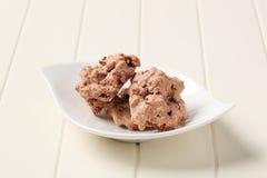 Chocolate meringue cookies Royalty Free Stock Photo