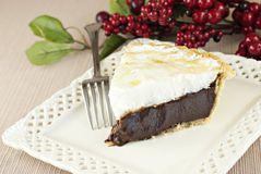 Chocolate Meringue Pie Royalty Free Stock Image