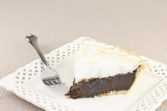 Chocolate Meringue Pie Royalty Free Stock Images