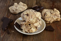 Chocolate meringue Royalty Free Stock Images
