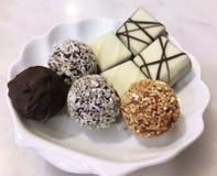 Chocolate, chocolate mezclado, chocolate de Bélgica Fotografía de archivo libre de regalías