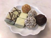 Chocolate, chocolate mezclado, chocolate de Bélgica Foto de archivo libre de regalías