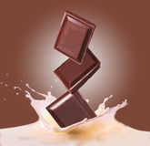 Chocolate and milk royalty free stock images