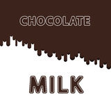 Chocolate and milk background. Vector eps 10. Milk and chocolate flat style vector background Stock Image