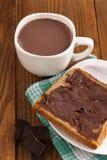 Chocolate milk and chocolate spread Royalty Free Stock Photos
