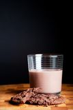 Chocolate milk and cookies Stock Photo