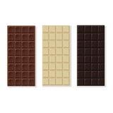 Chocolate milk, dark, white,  handmade, bio isolated on white Stock Images