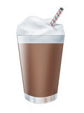 Chocolate milk shake drink Stock Image