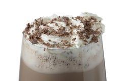 Chocolate milk shake with whipped cream Royalty Free Stock Image