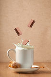 Chocolate Milk Splash Royalty Free Stock Image