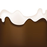 Chocolate and milk splash element vector Royalty Free Stock Photography