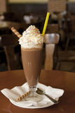 Chocolate milkshake Stock Photos