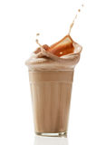 Chocolate milkshake Stock Images