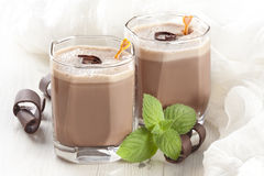 Chocolate milkshake Royalty Free Stock Photography