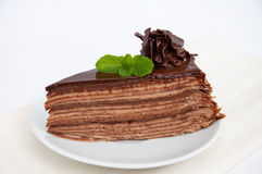 Chocolate Mille crepes Royalty Free Stock Image