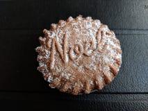 Chocolate Mince pie stock image
