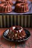 Chocolate mini bundt cake Royalty Free Stock Images