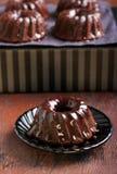 Chocolate mini bundt cake Stock Photos