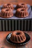 Chocolate mini bundt cake Royalty Free Stock Images