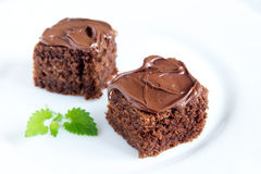 Chocolate mini cakes Stock Photo