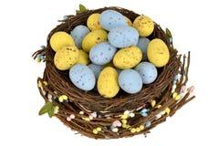 Chocolate Mini Easter Egg Nest Imágenes de archivo libres de regalías