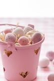 Chocolate mini eggs Royalty Free Stock Photos