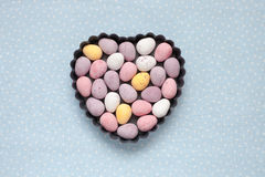 Chocolate mini eggs Royalty Free Stock Images